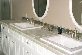 Bathroom Countertop Tile Ideas Alluring Tile Bathroom Countertop Sl Of Home Design
