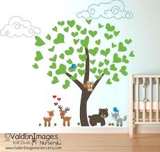 Animal Wall Decals For Nursery Woodland Animal Wall Decals And Woodland Animals Wall Decal