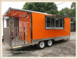 ys fv580 orange mobile buffet car china mobile food cart with