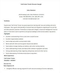 executive summary resume exle executive summary resume exle resume format for call center