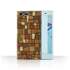 stuff4 phone case back cover for sony xperia x compact mosaic