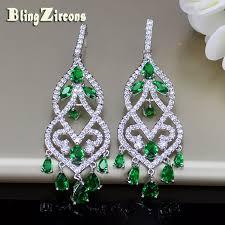 Designer Chandelier Earrings Aliexpress Buy Blingzircons Designer Jewelry