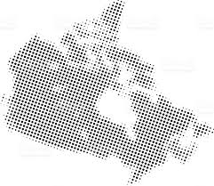Black And White Map Of Central America by Dotted Vector Map Of Canada Stock Vector Art 534084569 Istock