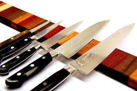 kitchen splendid rainbow wood magnetic knife strip for knives