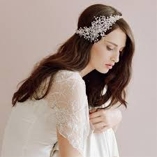 vintage headbands 2017 fashion hanmade bridal headdress soft white wedding
