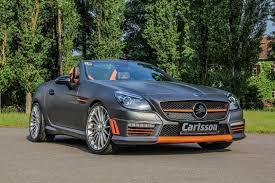 mercedes amg slk mercedes slk 55 amg gets carlsson interior with orange and carbon