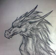 dragon pencil drawing by lena lucia dragon on deviantart