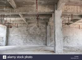 empty industrial loft in an architectural background with bare