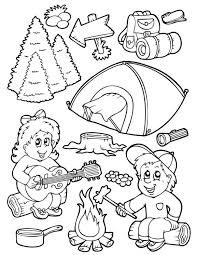 summer camping coloring pages preschool coloring pages camping