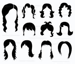 Photo Booth Prop Digital Wig Clipart Photobooth Props Printable Digital Hair