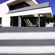 balkon sichtschutz grau balkon sichtschutz grau weiß gestreift 600x75 real