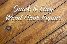 easy wood floor repair the craftsman