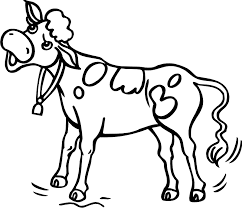 cow images for kids coloring home