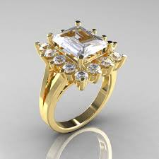 engagement ring gold modern 18k yellow gold 4 0 ct russian cubic zirconia