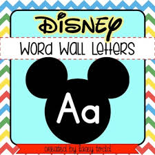 themed letters disney mickey mouse themed word wall letters 3 sizes by todd
