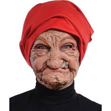 skin mask halloween old nana latex mask halloween accessory walmart com