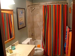 elegant colorful printed shower curtain draping ideas trends4us com