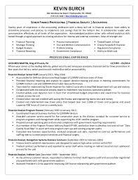 Sample Resume For Financial Analyst Entry Level by Senior Financial Analyst Resume Summary Contegri Com