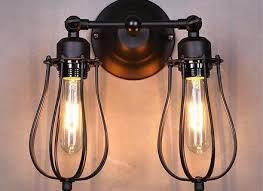 wire cage l shade wall sconce industrial pixball com