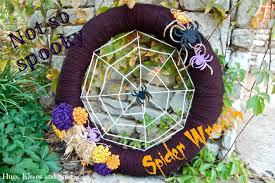 Halloween Spider Wreath by Spider Web Yarn Wreath Tutorial U0026 Dailybuzz Moms 9x9 Hugs