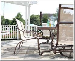 Ideas For Painting Garden Furniture by How To Paint Outdoor Furniture With Sling Seats Inmyownstyle