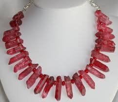 jewelry statement necklace images Raw red quartz crystal statement necklace by 123gemstones on zibbet jpg