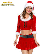 Adogirl Womans Christmas Dress Adult Y Ms Santa Costume Red Ideas Of