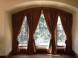 Curved Curtain Rods For Bow Windows Accessories Curved Window Curtain Rod With Glorious Custom