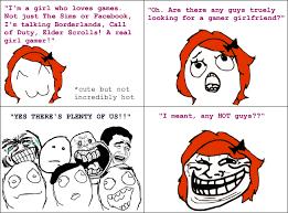 Rage Girl Meme - girl gamer le rage comics