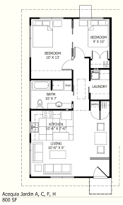 Small 2 Bedroom Cottage Plans I Like This One Because There Is A Laundry Room 800 Sq Ft