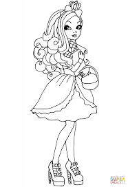 ever after high apple coloring page free printable coloring pages