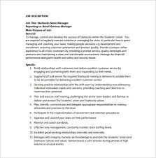 store manager job description template u2013 8 free word pdf format