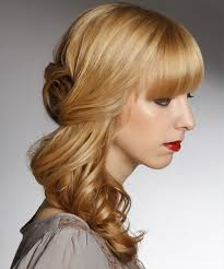 side view of pulled back hair in a bun half up half down hairstyles in 2018