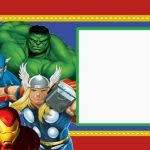 avengers birthday card template free avengers age of ultron