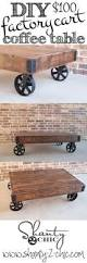 build a factory cart coffee table diy table hgtv and coffee