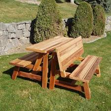 convertible garden bench to picnic table outdoor patio tables