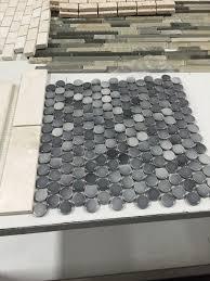 gray penny tile bathroom floor best bathroom decoration