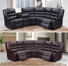 Leather Sofa Edinburgh New Roma Corner Recliner Leather Sofa Black And Brown In New