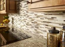 Glass Tile Backsplash With White Cabinets Modern Glass Tile - Lowes backsplash tiles