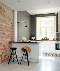 cuisine avec brique un mur en brique c est stylé en déco de cuisine