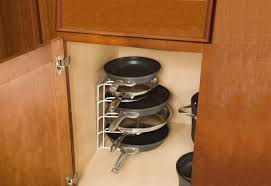 Kitchen Cabinet Spice Racks Organizer Pots And Pans Organizer For Accommodate Different Sizes