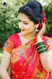 traditional bridal hairstyle nauvari saree bridal hairstyle best hairstyle photos on