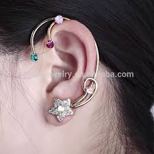 ear cuffs india golden plated angelic ornate wing cartilage ear cuff wing ear cuff