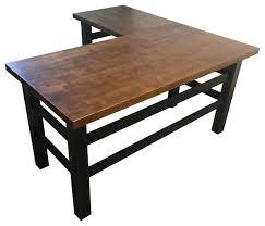 reclaimed wood l shaped desk l shaped desks outstanding the industrial office desk l shape