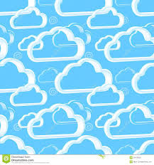 Blue Pattern Background Cloud Technology Light Blue Pattern Background Royalty Free Stock