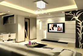 interior design of living room with lcd tv design ideas cool and