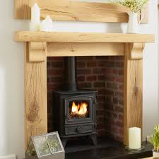 Fireplace Fixings Oak Fire Surround Oxford Solid French Rustic Beam