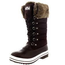 womens size 12 fur lined boots womens warm side zip fur duck muck lace up winter