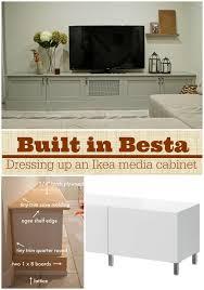 Built In For Refrigerator Ikea Hackers Ikea Hackers Ikea Hacking A Besta Media Center Into A Custom Diy Built Ins