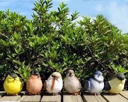 6pcs resin simulation bird decoration resin garden ornaments